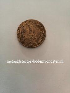 1880 Leeuwencent 1 cent achter