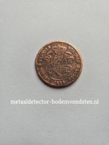 2 cent 1835 Leopold achterkant