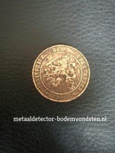 2 half cent 1906 Koningin Wilhelmina voorkant