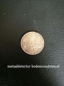 25 cent 1830 Koning Willem 1 achterkant