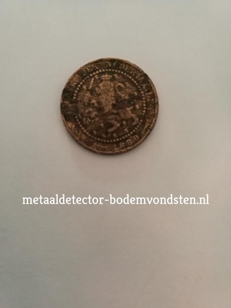 1880 Leeuwencent 1 cent voor