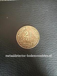 2 half cent 1906 Koningin Wilhelmina achterkant