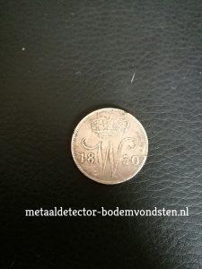 25 cent 1830 Koning Willem 1 voorkant