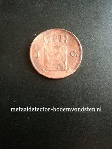 1837 Koning Willem I 1 cent achter