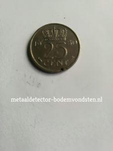 25 cent 1950 koningin juliana achter