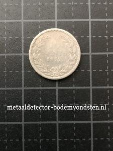 1877 10 cent Koning Willem III achterkant