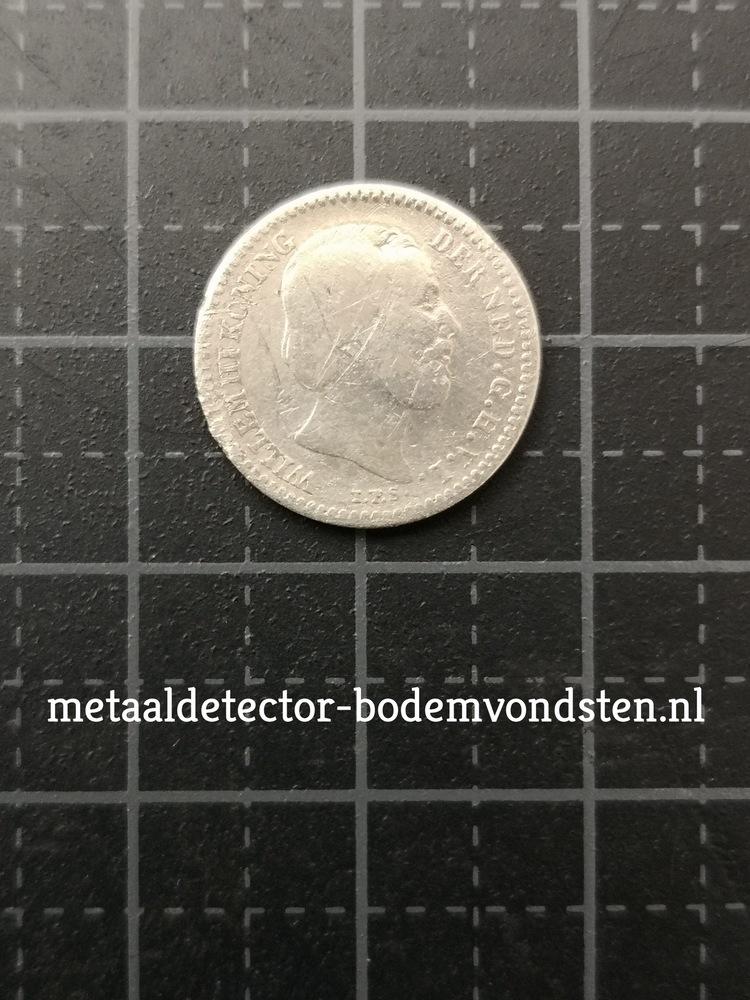 1877 10 cent Koning Willem III voorkant