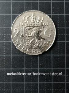 1961 250 cent koningin juliana voorkant achterkant