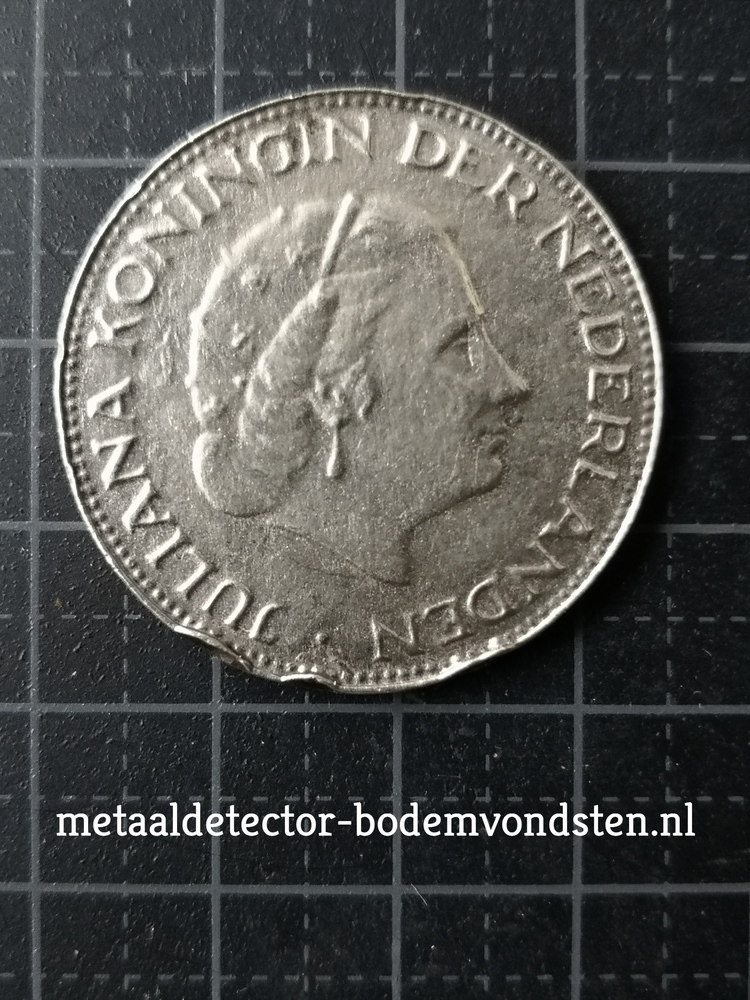 1961 250 cent koningin juliana voorkant